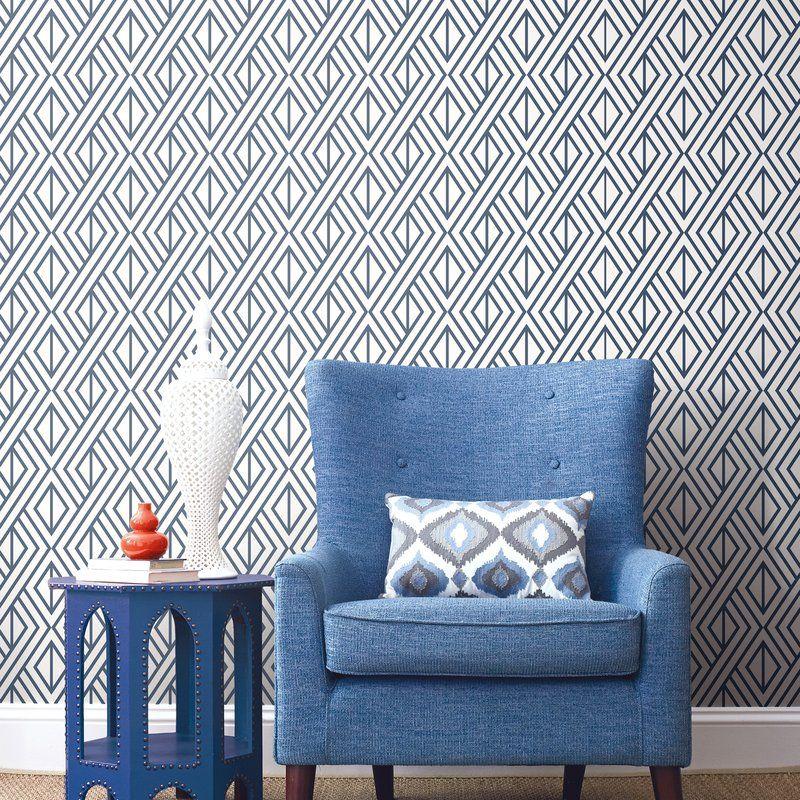 Keomi Diamond Geometric 18 L X 20 5 W Peel And Stick Wallpaper Roll Peel And Stick Wallpaper Wallpaper Roll Decor