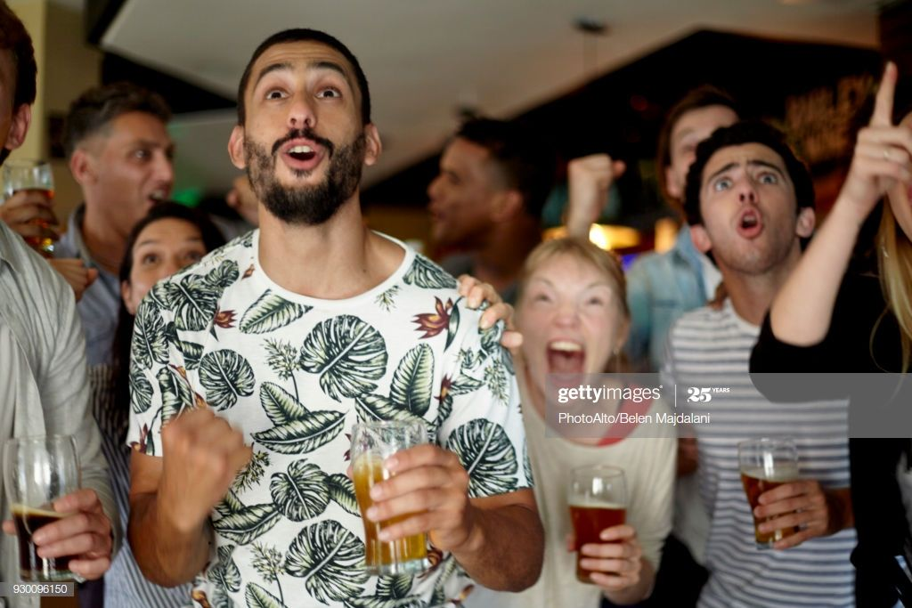 Sports Enthusiasts Excitedly Watching Match In Bar Photography #Ad, , #SPONSORED, #Excitedly, #Enthusiasts, #Sports, #Watching