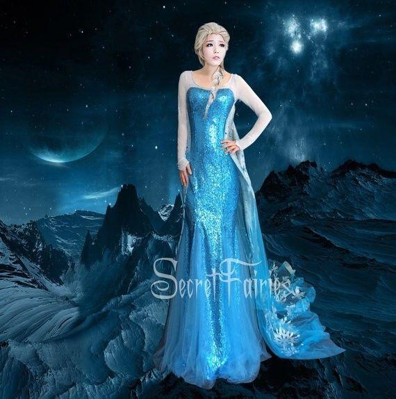 757 Movies Frozen Snow Queen Elsa Cosplay Costume Women Dress Tailor Made Adult   eBay  sc 1 st  Pinterest & 757 Movies Frozen Snow Queen Elsa Cosplay Costume women Dress tailor ...