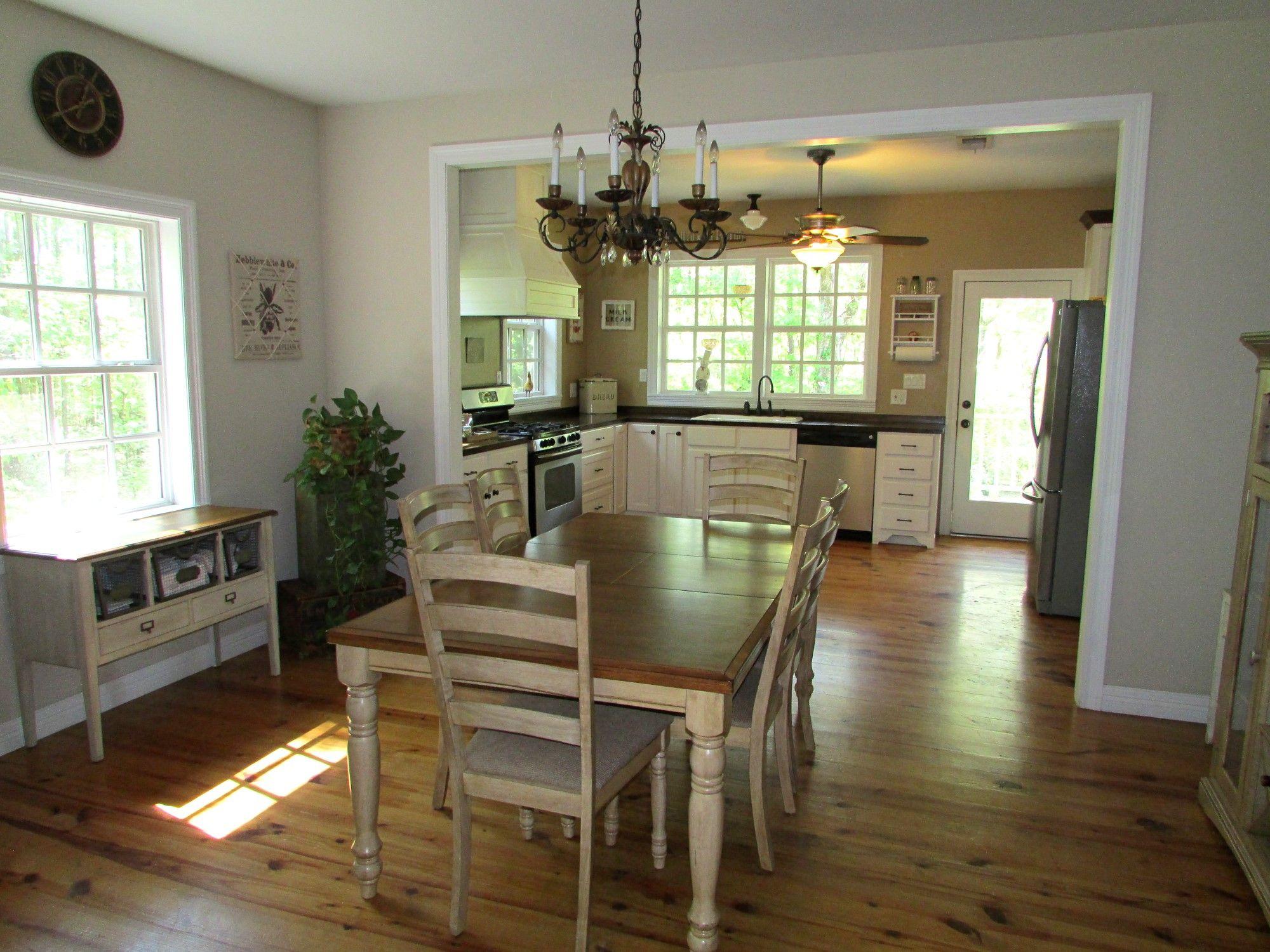1st floor - living, dining, foyer and kitchen - open floor ...