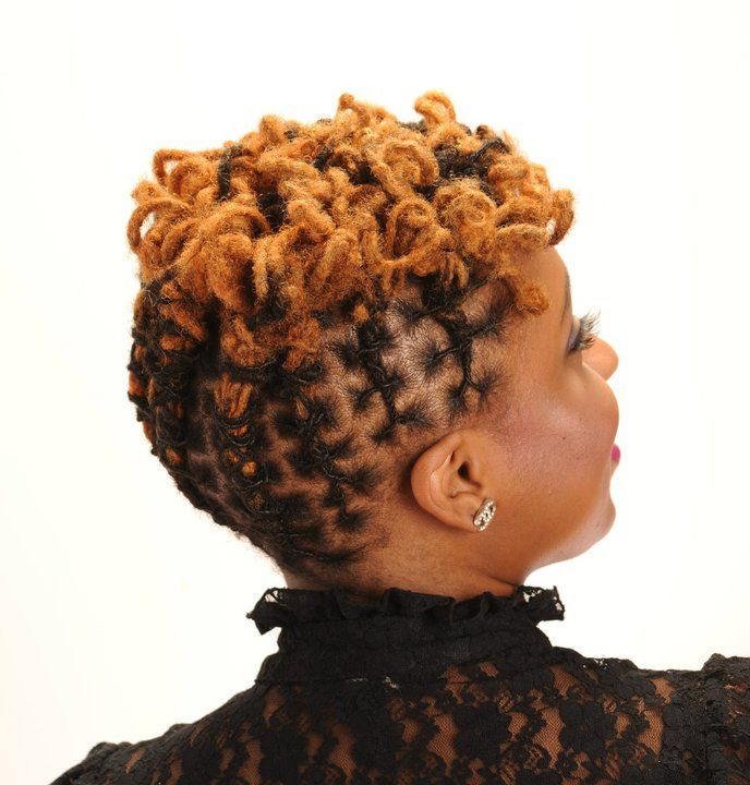 top Nice updo for short locs All Natural Locs Curls & Waves