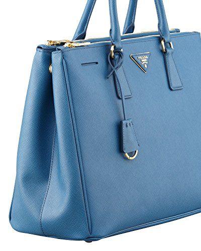 #saucy  Prada Women's Tote Bag Saffiano Leather in Cobalto Style 1786