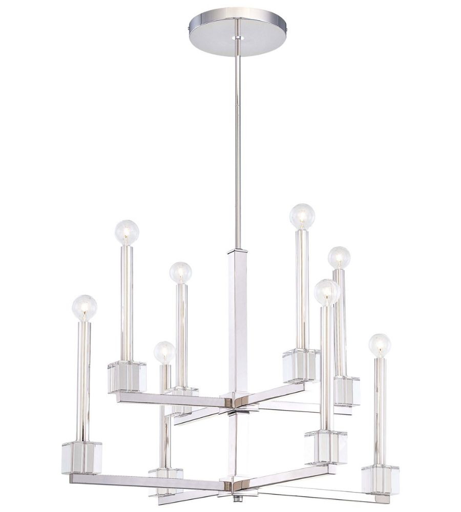 Metropolitan n6871 613 chadbourne 8 light chandelier in polished metropolitan n6871 613 chadbourne 8 light chandelier in polished nickel arubaitofo Gallery
