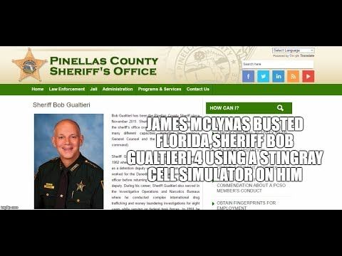 James McLynas BUSTED FLORIDA,Sheriff Bob Gualtieri 4 USING A