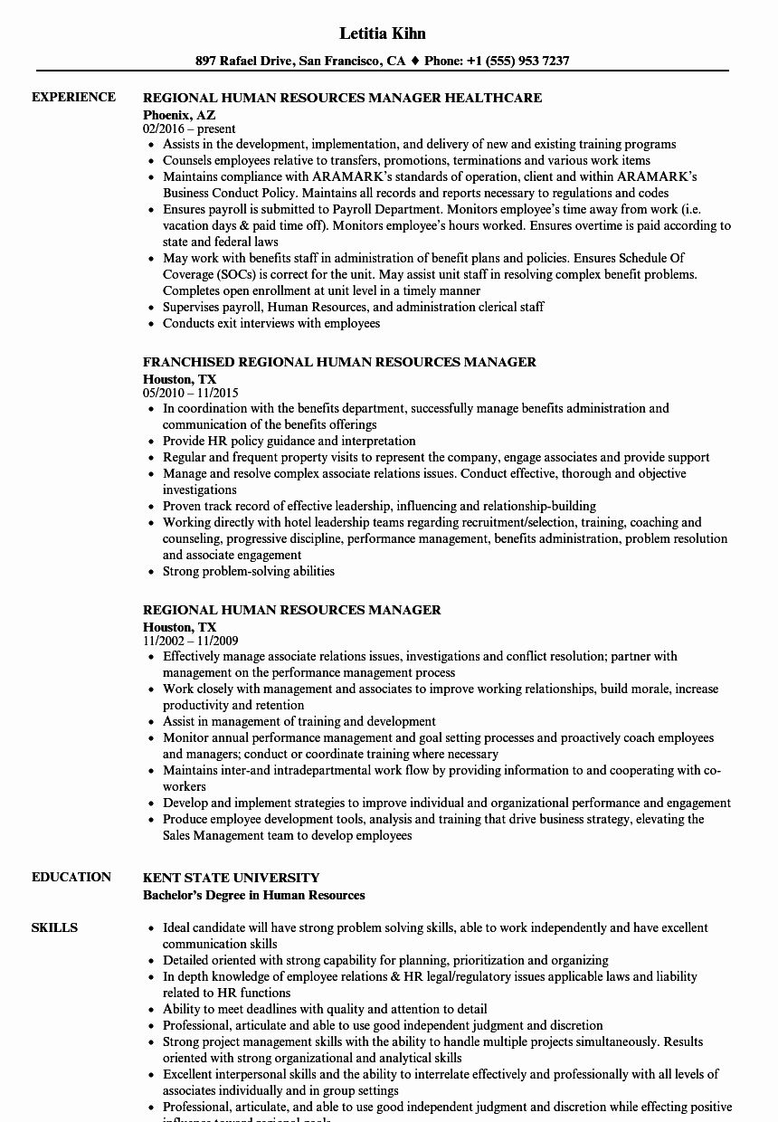 23 Human Resource Manager Resume Examples in 2020 Resume