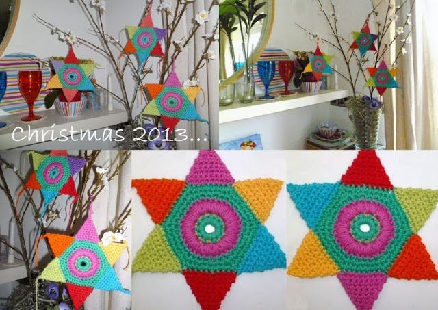 THANK+YOU+EVERYONE....Crochet+Rainbow+Decorations+for+Christmas+2013