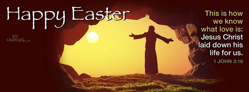 Happy Easter - Eternal Life | Easter cover photo facebook, Easter cover  photos, Happy easter pictures