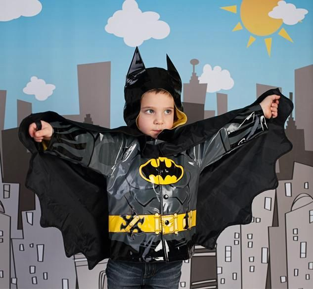 Batman Raincoat Take your little caped crusader for a walk through a rainy Gotham City with this awesome batman raincoat.