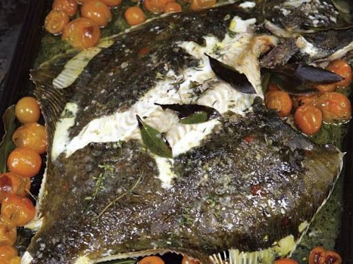River cottages roasted whole plaice with cherry tomatoes recipe river cottages roasted whole plaice with cherry tomatoes recipe yummly forumfinder Choice Image