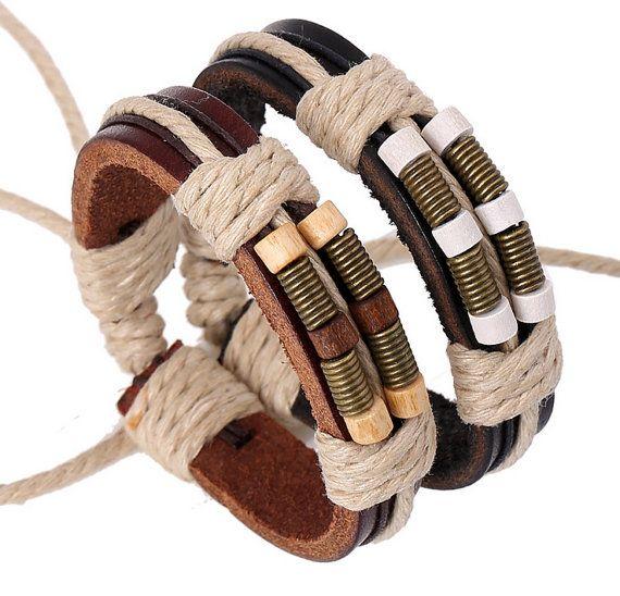 Siembra en relleno de cuero y pulseras de por BraceletStreetUSA