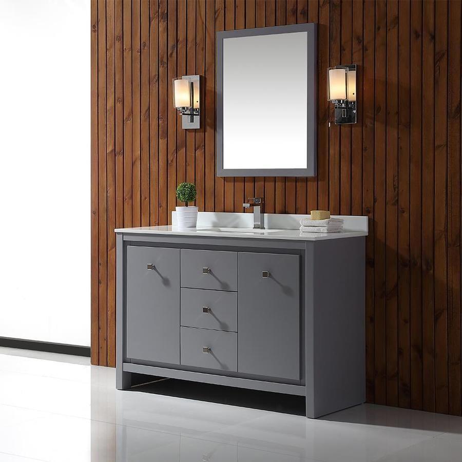 Ove Decors Kevin Pebble Gray Undermount Single Sink Bathroom Vanity With Cultured Marble Top Single Sink Bathroom Vanity Cultured Marble Bathroom Sink Vanity