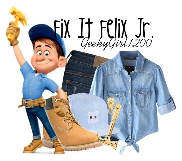 """""""Fix It Felix Jr."""" by kristenrothbauer ❤ liked on Polyvore featuring Abercrombie & Fitch, Chicnova Fashion and Felix"""