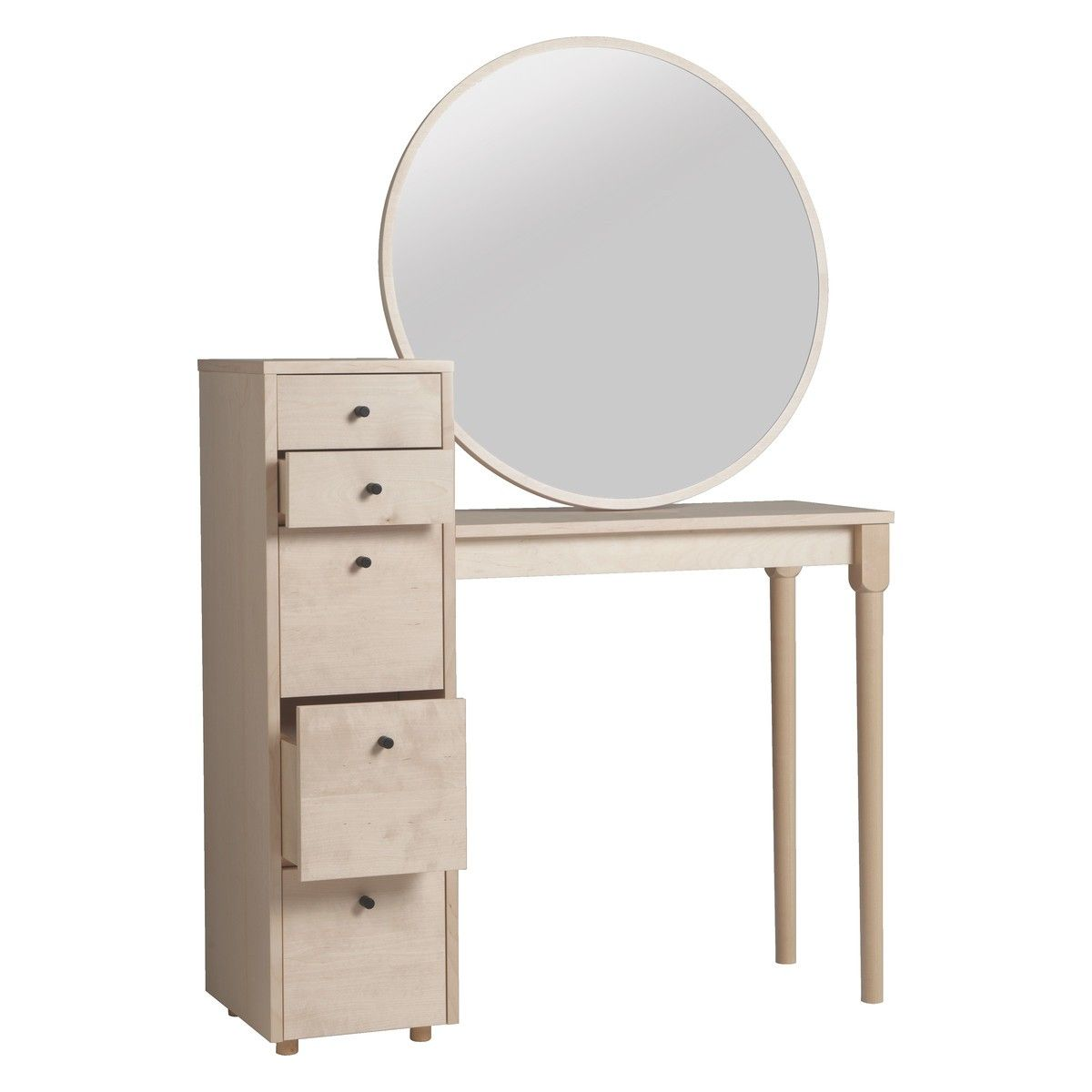 Emil Birch Dressing Table With Storage In 2019 Furniture