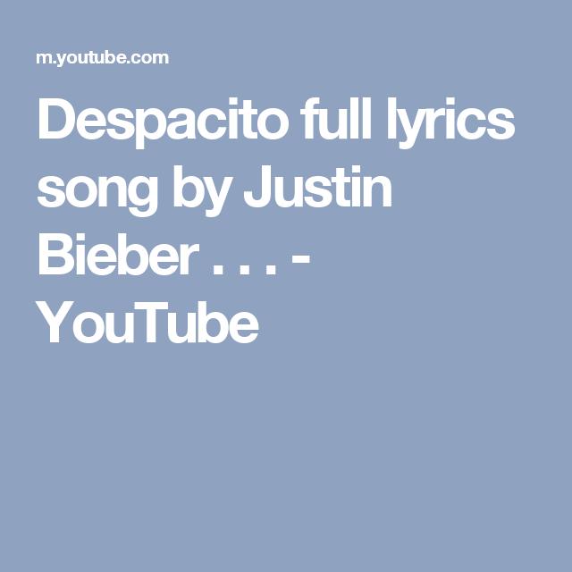 Despacito Suomeksi Lyrics
