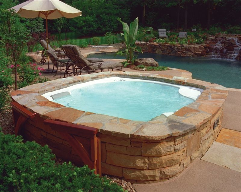 Landscape Ideas Backyard Hot Tub Designs Hot Spring