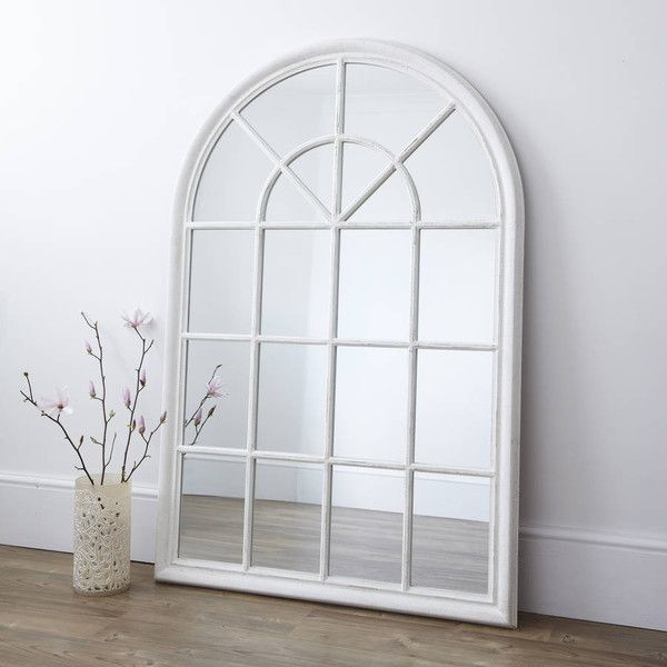 Primrose Plum White Arched Window Mirror 325 Liked On Polyvore Featuring Home Home Decor Mirrors Whi Arched Window Mirror White Windows Window Mirror