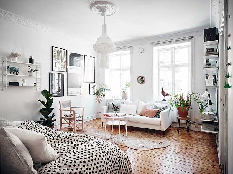 Un departamento bohemio escandinavo para so ar en 2019 for Decoracion de interiores apartamentos tipo estudio
