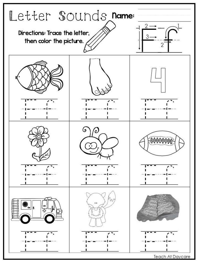 26 Printable Alphabet Letter Sounds Worksheets Preschool Kdg Phonics In 2020 Printable Alphabet Letters Letter Sounds Alphabet Printables
