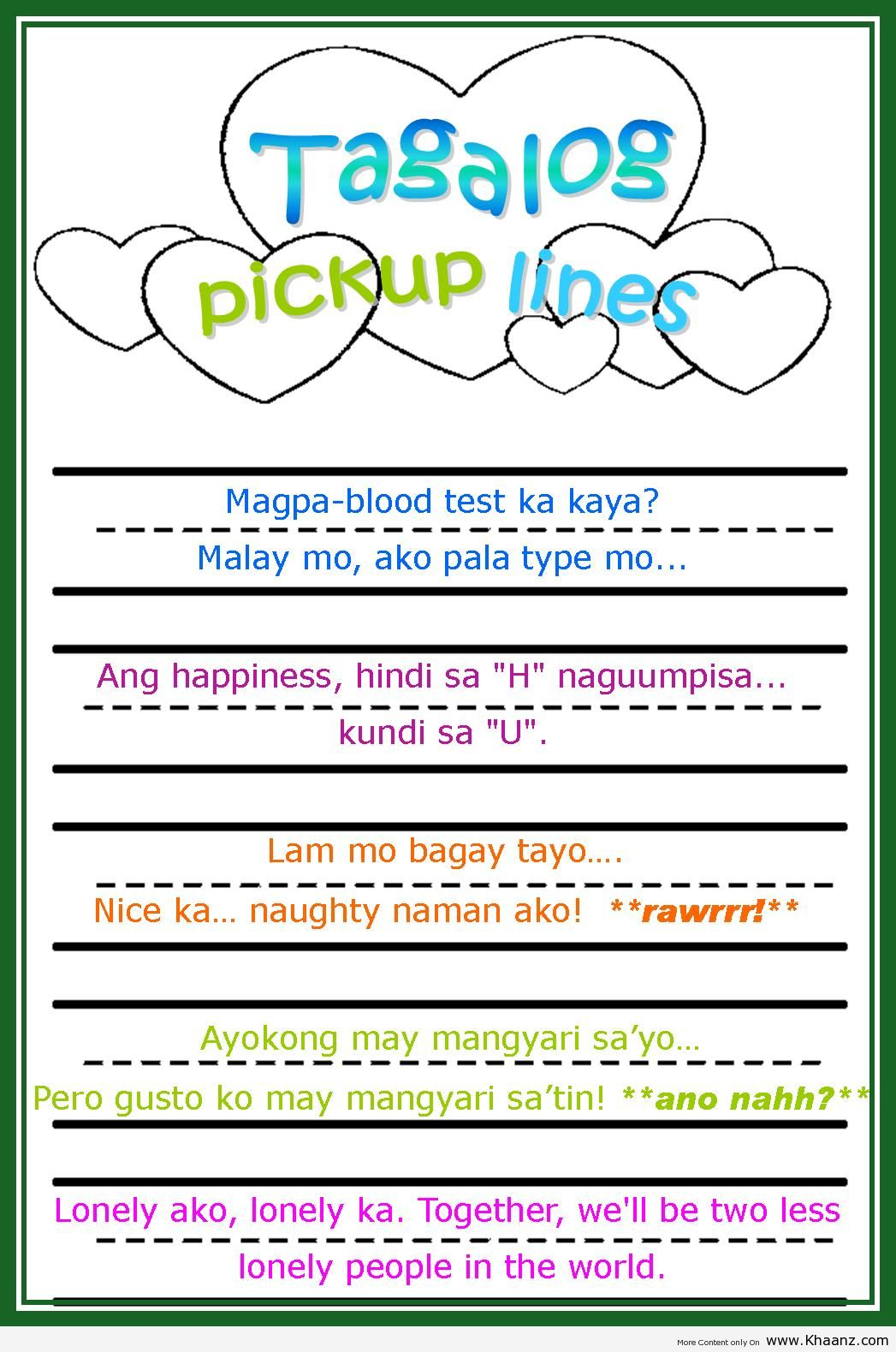 Women's pick-up lines - Pinoy Guy Guide