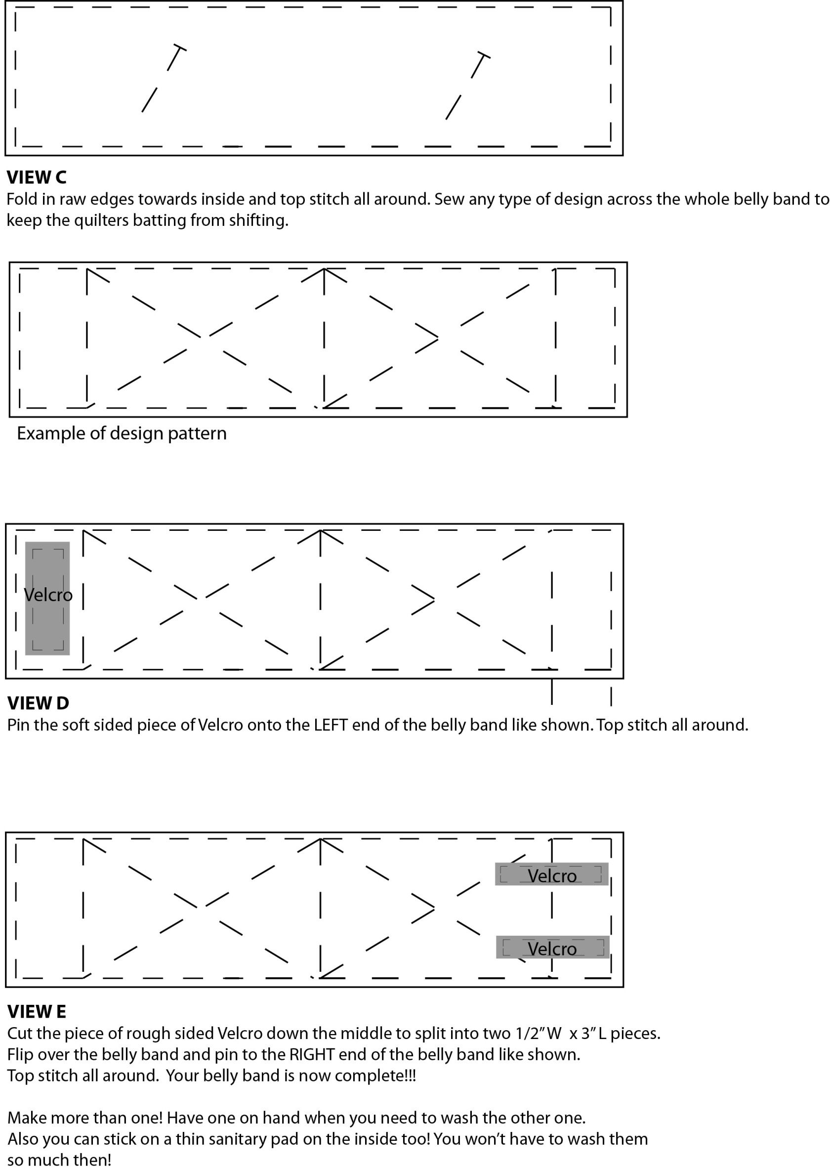 I just posted a free sewing pattern to make a Belly Band for your ...