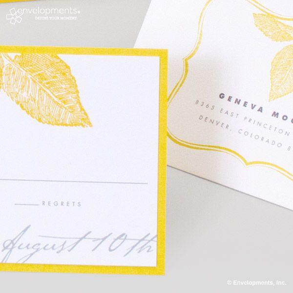 Response envelope design element