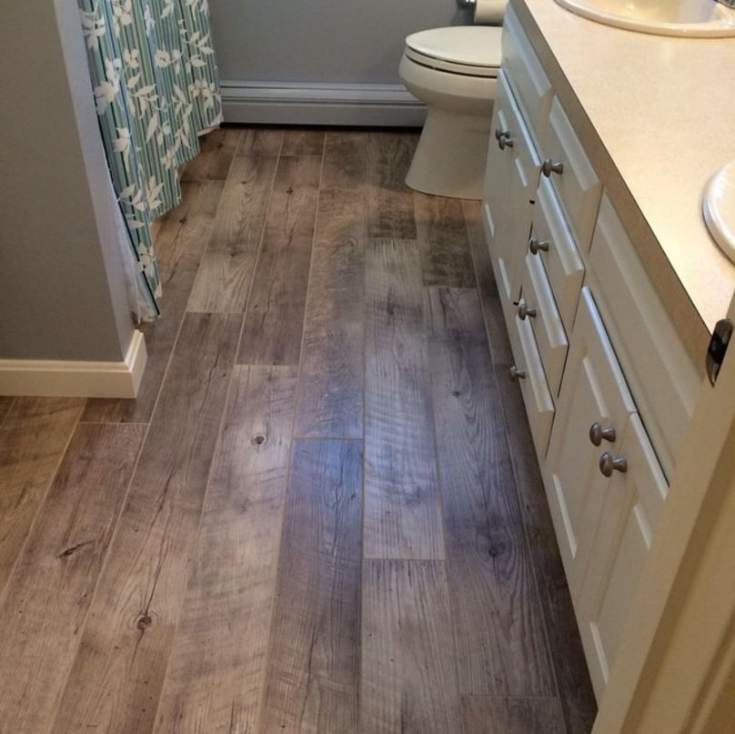 Mannington Adura wood plank with a grouted installation