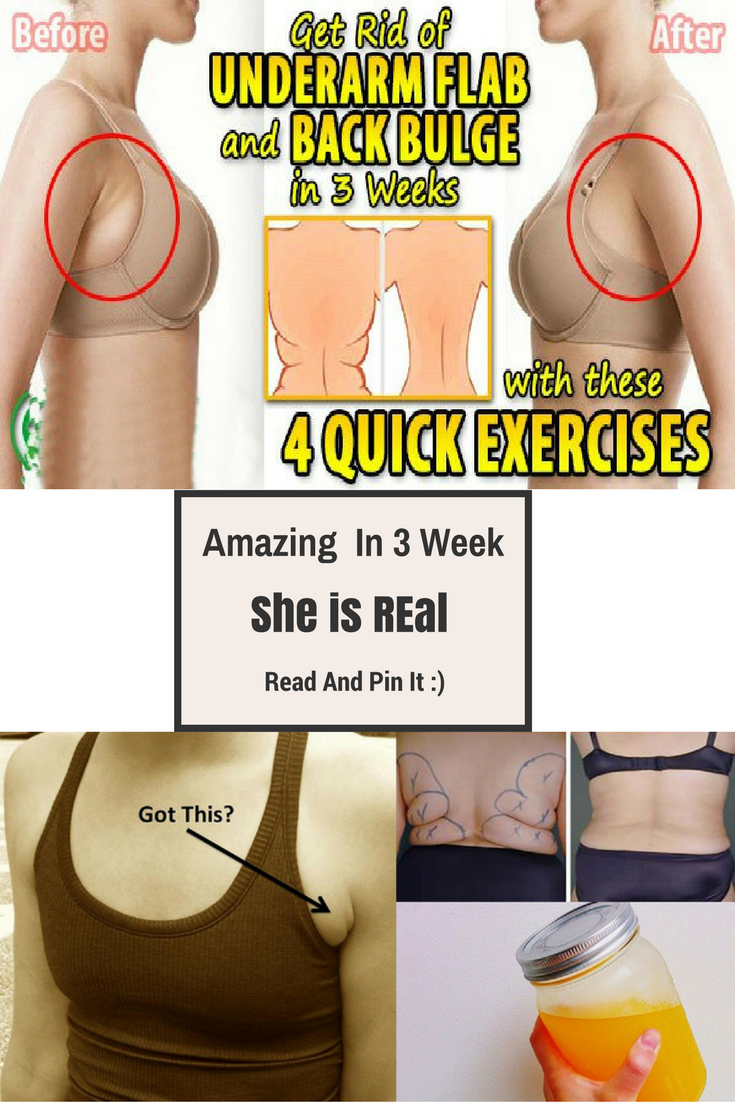 4 quick exercises to get rid of underarm flab and back bulge in 3