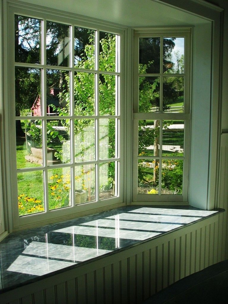 Marvin Bay Window With Marble Window Sill And Bead Board