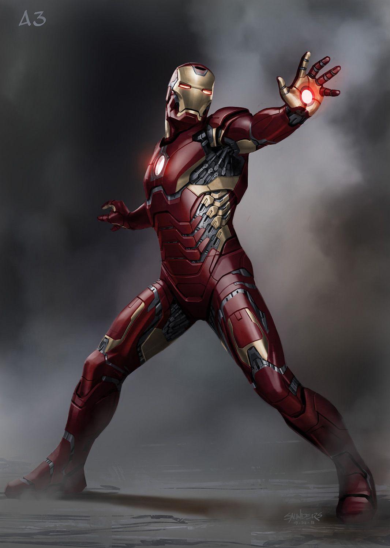"Early ""Lightweight"" Suit Concept - Iron Man 3 concept art ..."