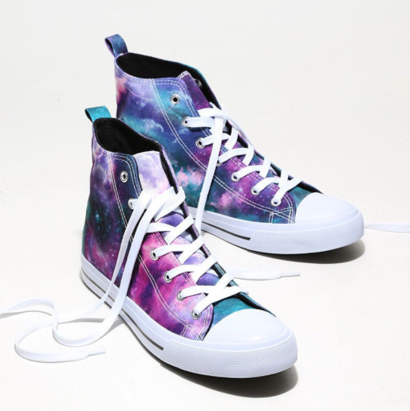 3386569f8bce Solar System Sneakers    Pastel Galaxy Hi Top Sneakers