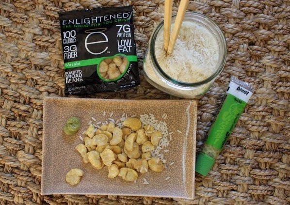 Mmmm wasabi  Satisfy your sushi craving anytime anywhere with a plate of ENLIGHTENED broad bean crisps!  Low calorie high protein and full of flavor!