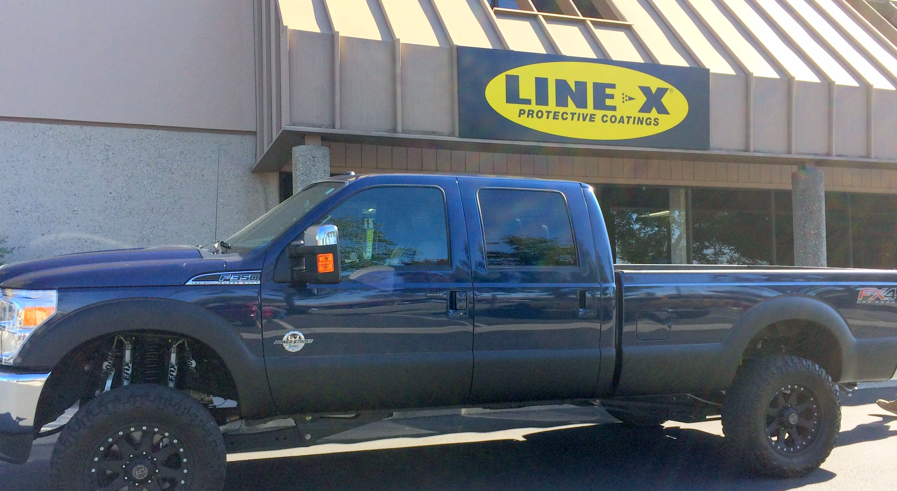 Line X Orange County Sprayed Rocker Panels On This Ford F 250