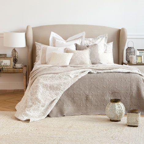 Fundas De Edredon Zara Home.Edredon Decorativo Y Funda De Cojin Floral Lino Zara Home Espana