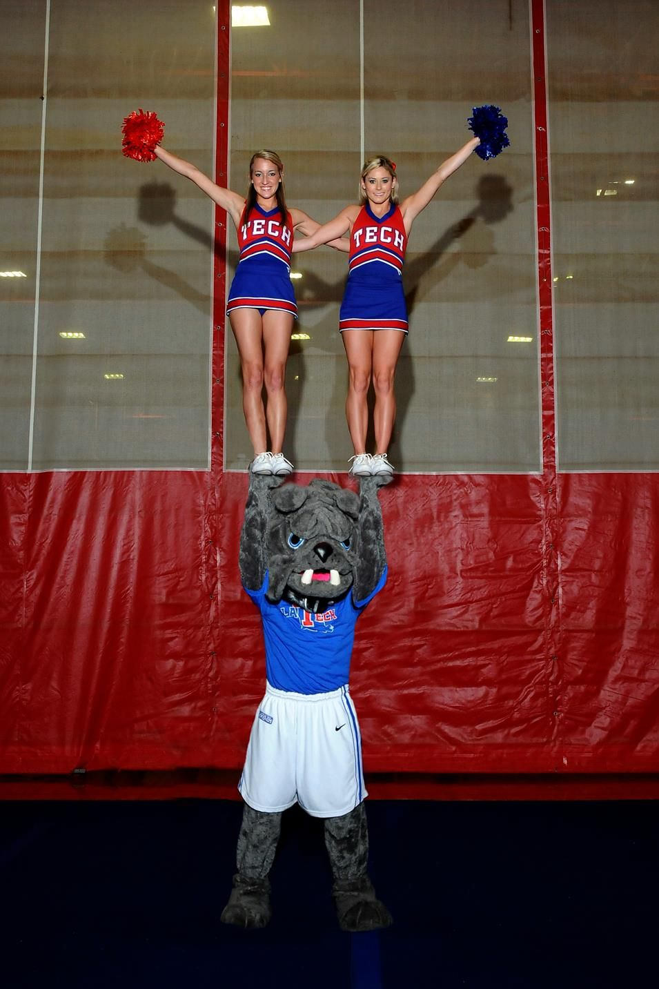 Champ represents the Bulldogs at LA Tech Louisiana tech