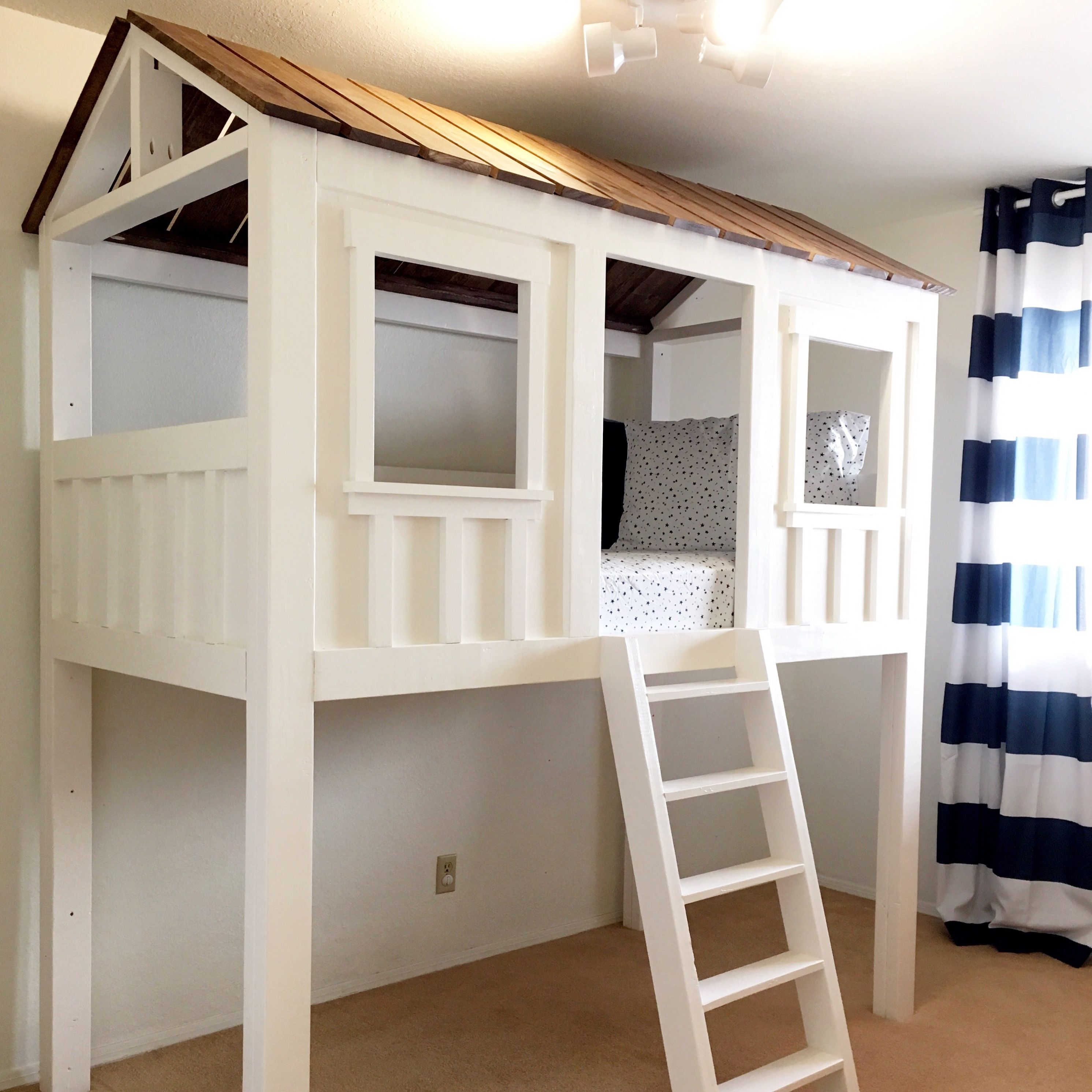 Plywood loft bed plans  Loft Cabin Bed  DIY Projects  kids  Pinterest  Hule Carpintería