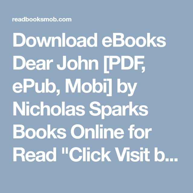 Books pdf sparks nicholas