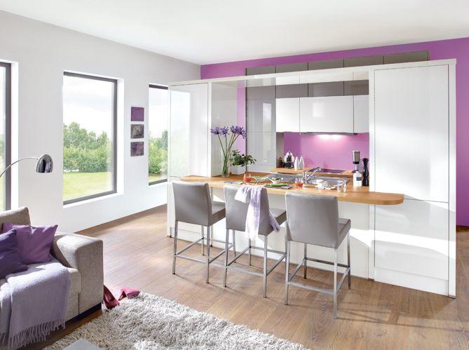 Cuisine ouverte sur le salon : toutes les solutions Maison&Travaux ...