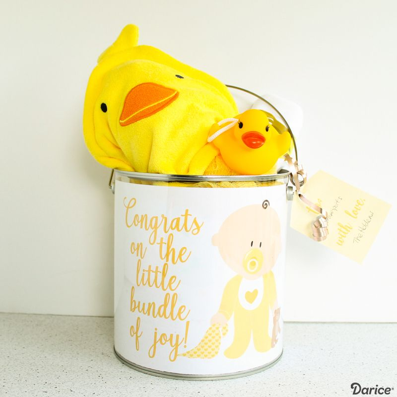 Diy baby shower gift for a gender neutral theme darice