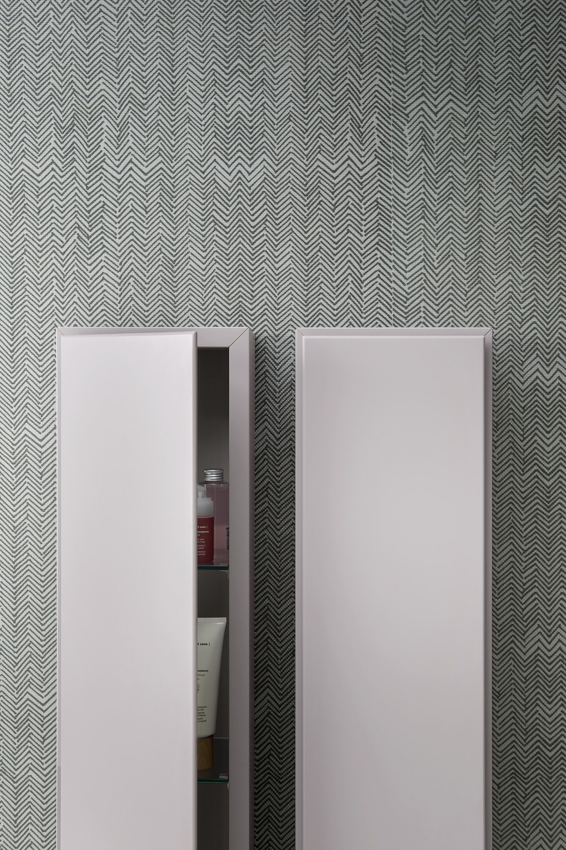 Wall coating - Esperanto + Fibra, design by Monica Graffeo #rexa #design #bathroom #bath