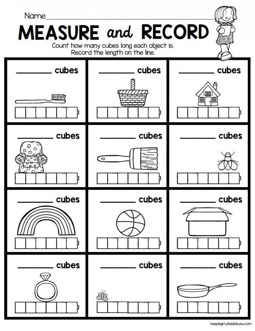 small resolution of 3 Worksheet Free Preschool Kindergarten Worksheets Measurement Length Ruler  047 Workshee… in 2020   Kindergarten math units