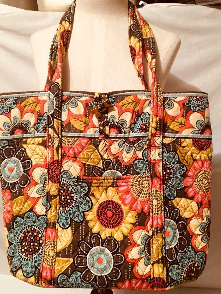 Vera Bradley Villager Flower Shower Xl Tote Shoulder Bag Purse