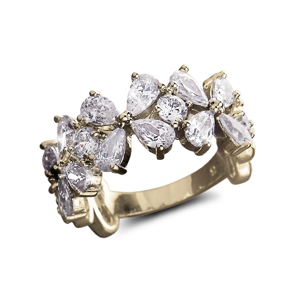 Daniel steiger petal flower ring october catalog pinterest