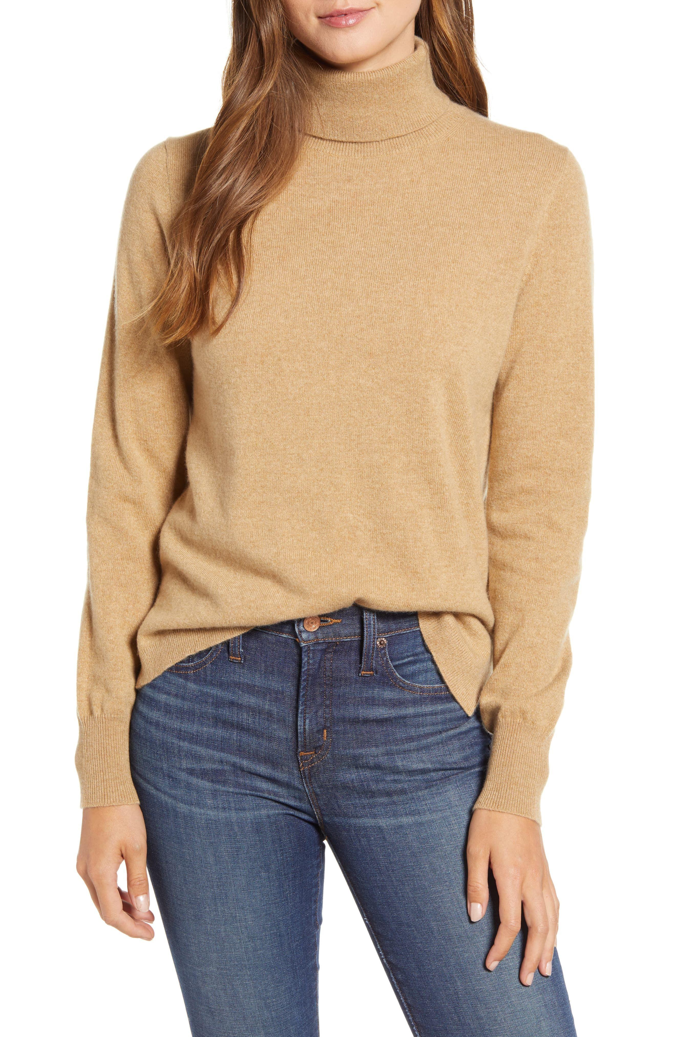 Women's J.crew Everyday Cashmere Turtleneck Sweater, Size