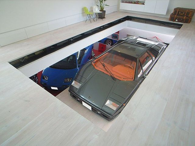 This is soooo cool. Park any car inside your house! The setup ...