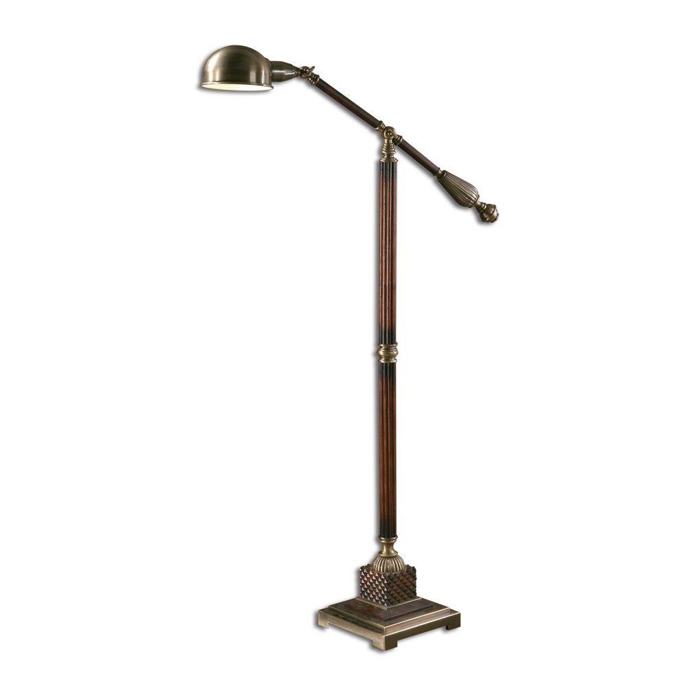 Pharmacy Floor Lamp in Antique Bronze Finish   Uttermost lighting ...