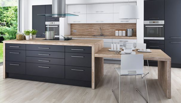 WKO Kitchen Blog Nest Pinterest Kitchens Nest And Interiors - White grey and wood kitchens