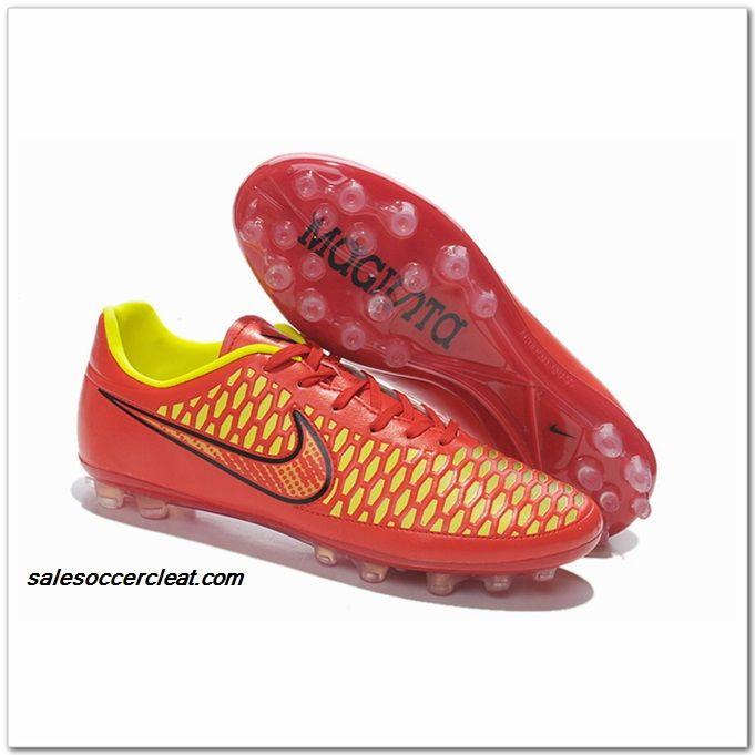 Soccer Cleats Sydney Nike Magista Obra AG Turf Crimson Red Hyper Punch