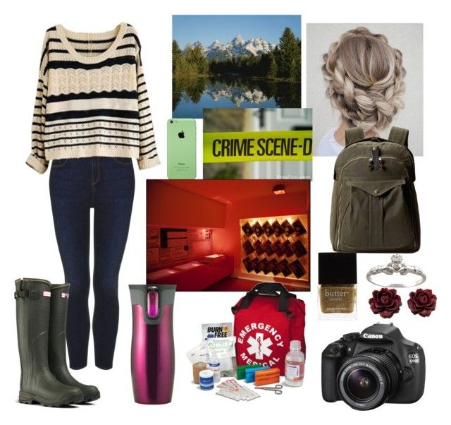 """Investigating a Crime Scene with Ferg-Louisa, Longmire OC"" by pianokeys2013 ❤ liked on Polyvore featuring Topshop, Hunter, Butter London, Contigo, Eos, INC International Concepts, Filson, women's clothing, women and female"