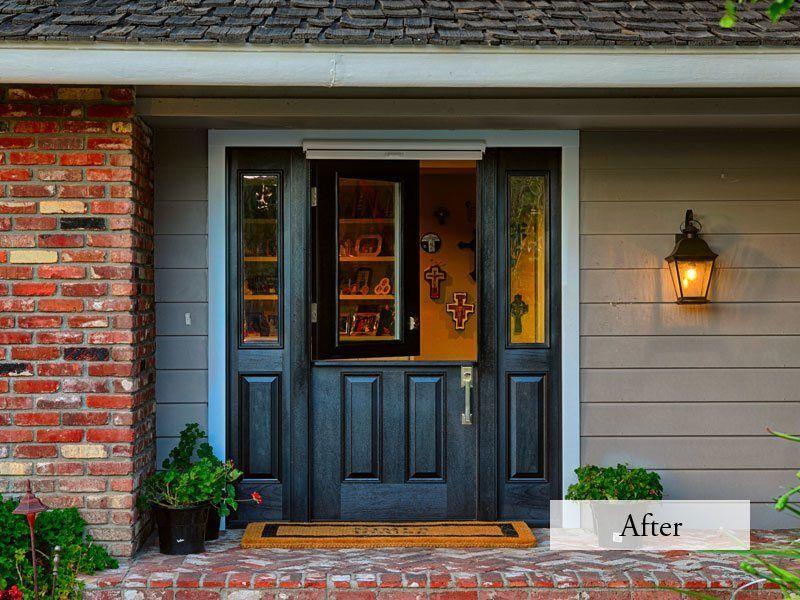 Single 36 Inch Dutch Black Entry Door Porch And Front Entryway