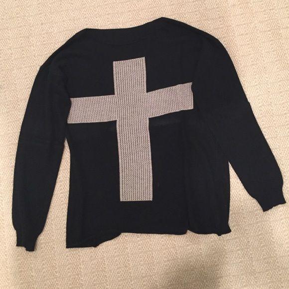 vintage brandy melville cross sweater worn once super soft Brandy Melville Sweaters